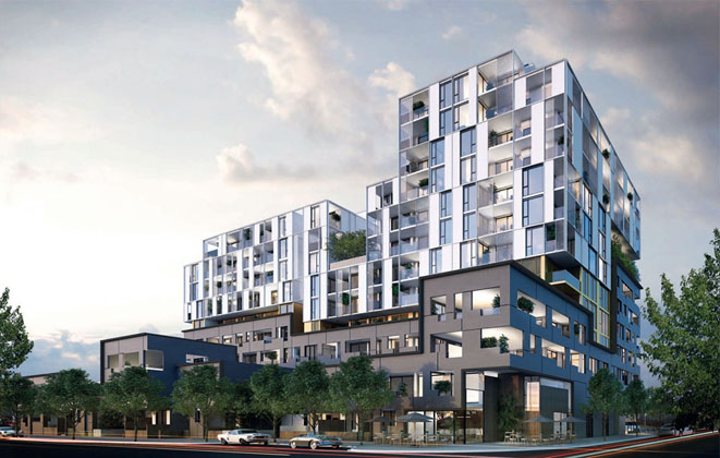 Embassy apartment & retail development